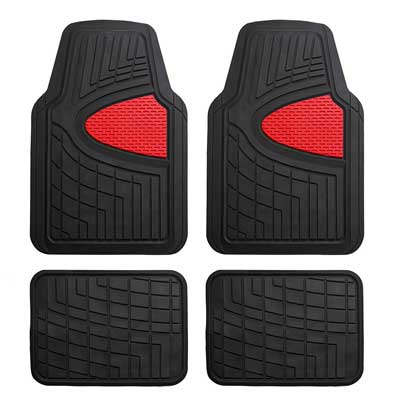 FH Group Heavy Duty Tall Channel F11311RED Rubber Floor Mat