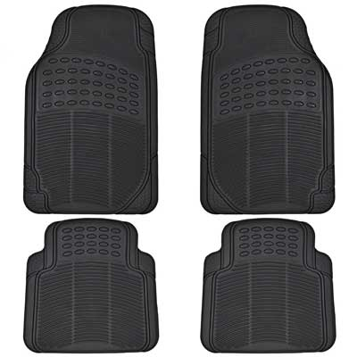 BDK All-Weather Rubber Floor Mats for Car SUV and Truck