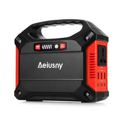 Aeiusny Portable Generator 155W Power Inverter Battery Camping CPAP Emergency Home Use Ups