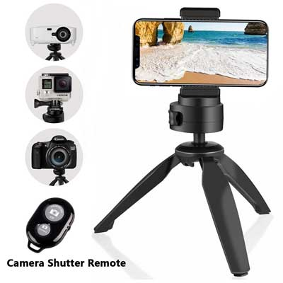 Heavy Duty Tripod, UBeesize Phone, and Camera Tabletop Mini Tripod