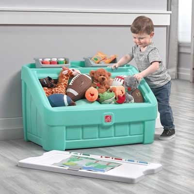 Step2 2-in-1 Toy Box & Art Lid Storage Chest