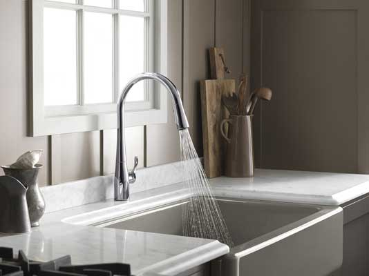 KOHLER K-596-VS Simplice Single-hole kitchen faucet