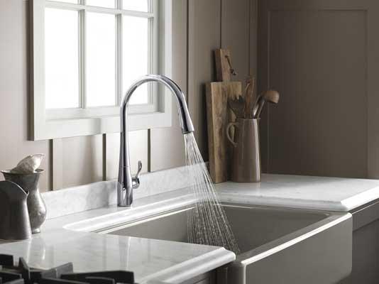 KOHLER K-596-VS Simplice Single-hole kitchen faucet