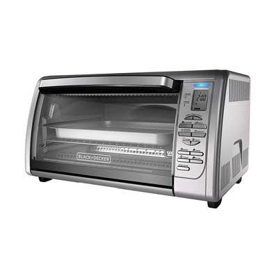 BLACK + DECKER Countertop Convection Toaster Oven, Silver, CTO6335S