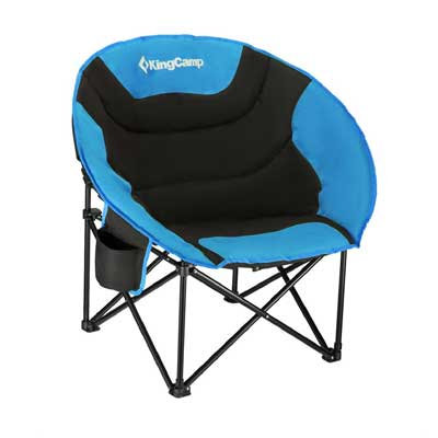 KingCamp Moon Saucer Camping Chair Steel Frame