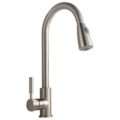 Best Commercial Stainless Steel Single Handle Pull-Down Sprayer Kitchen Faucet, Comllen