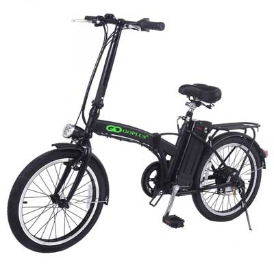 GoPlus 20-inch 250W Folding Electric Bike Sports Mountain Bicycle 36V Lithium Battery