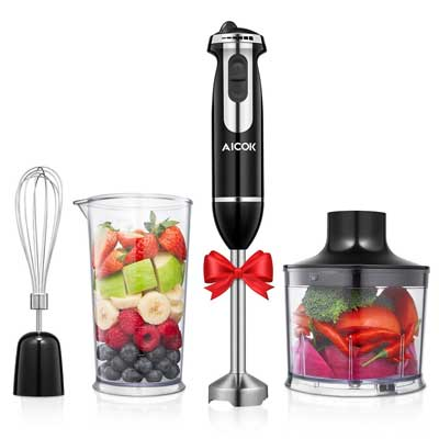 Aicok Immersion 4-in-1 Stick Blender
