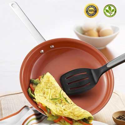 Hommate 9 Inch Nonstick Frying Pan, Omelette Pan