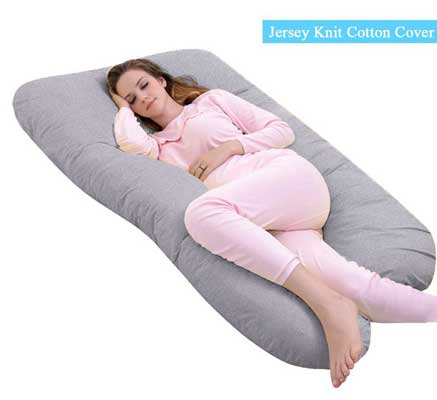 Ang Qi U-shaped Pregnancy Pillow with Easy-on-off Jersey Cover