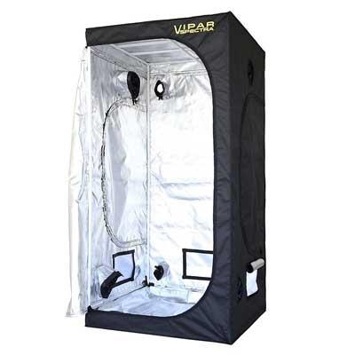 """VIPARSPECTRA 36""""x36""""x72"""" Reflective 600D Mylar Hydroponic Grow Tent"""