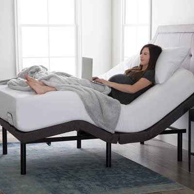 Lucid L300 Adjustable Bed Base - Dual USB Charging, Remote Control