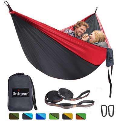Unigear Double Camping Hammock, Portable, Lightweight Parachute
