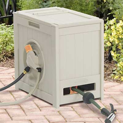 RSH125 Crate 125-Foot Water Powered Retractable Garden, Hose Reel