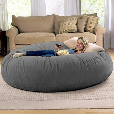 Jaxx 6 Foot Cocoon – Large Bean Bag Chair for Adults