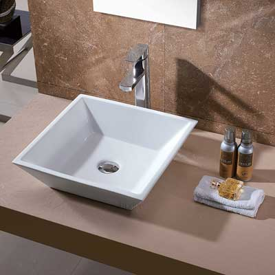 Luxier CS-006 Bathroom Porcelain Ceramic Vessel Vanity Sink