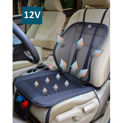 ObboMed SA-4270 Cooling Breathable Air Flow Car Seat Fan Cushion