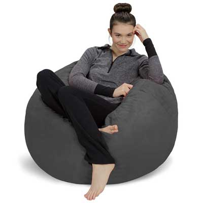 Sofa Sack Bean Bag Chair 3-inch, Charcoal