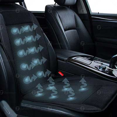 Zone Tech Cooling Car Seat Cushion with Adjustable Temperature