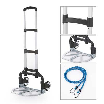 Homgrace Hand Truck and Dolly with PU Rubber Wheels
