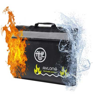 Fireproof and Waterproof Money and Important Document Bag, Avlone
