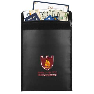 Fireproof Money and Document Bag, Moko Fire and Water Resistant Large Cash and Envelope Holder