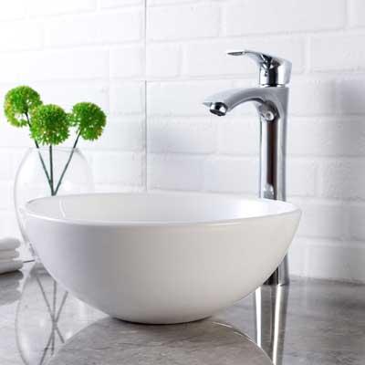 Lordear 13 X 13 Round Bowl Modern Bathroom Above White Porcelain Ceramic Vessel