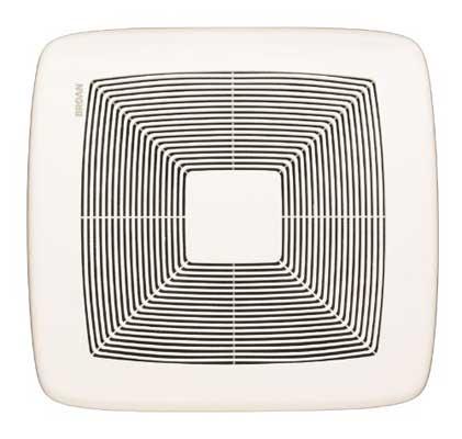 Broan QTXEO80 Ultra Silent Bath Fan, 80 CFM, White grille