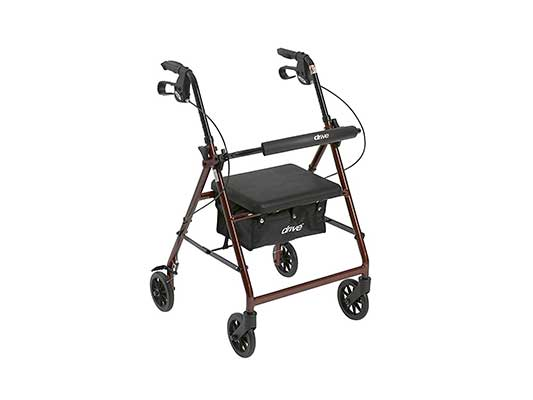 Drive Medical Aluminum Rollator Walker Fold Up