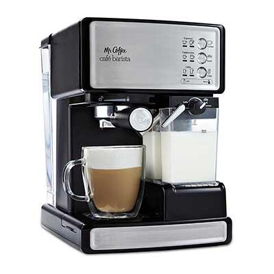 Mr. Coffee Café Barista Espresso and Cappuccino maker, Silver