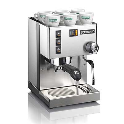 Rancilo Silvia Espresso Machine with Iron Frame and Stainless steel Side Panels
