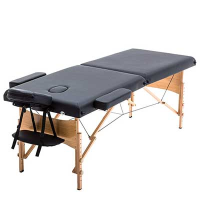 New Black 84-Inch Portable Massage Table with Free Carry Case