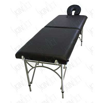 Ultra-Light Weight Supreme Edition Massage Table with Aluminum Frame in Black