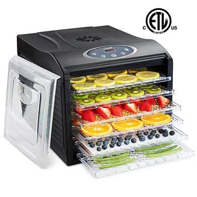 Ivation 480W Precision Electric Food Dehydrator Pro Machine