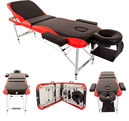 Merax Aluminum 3 Section Portable Folding Massage Table