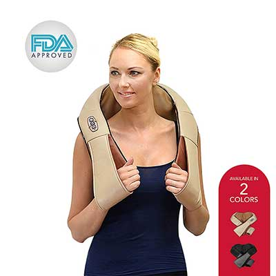 Shiatsu Shoulder and Neck Massager – 3 Speed Kneading Muscle Massager