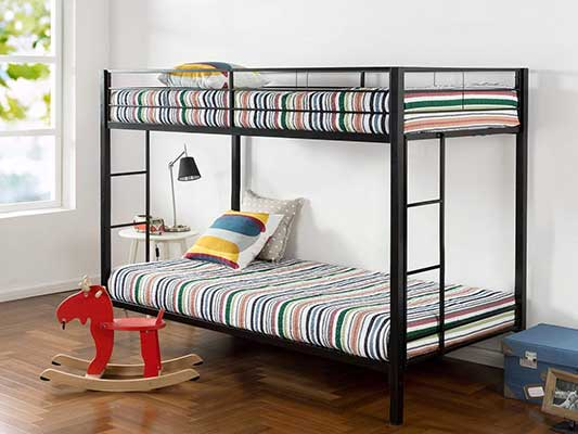 Zinus Easy Assembly Quick Lock Twin over Twin Classic Metal Bunk Bed