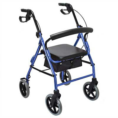 Healthline Elite Aluminum Rollator Walker with 8-Inches Wheels