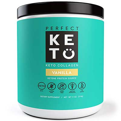 Perfect Keto Grass Fed Collagen Peptide with Low carbs and Oil powder