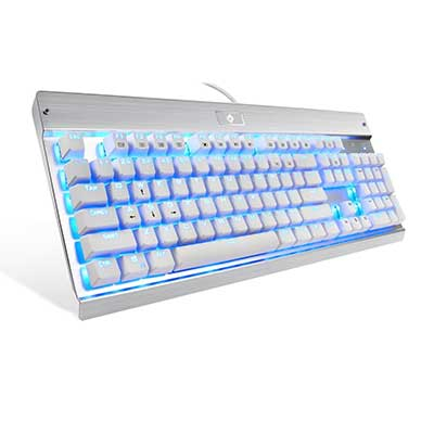 Eagletec KG011 Wired Keyboard USB Natural Ergonomic Mechanical Keyboard