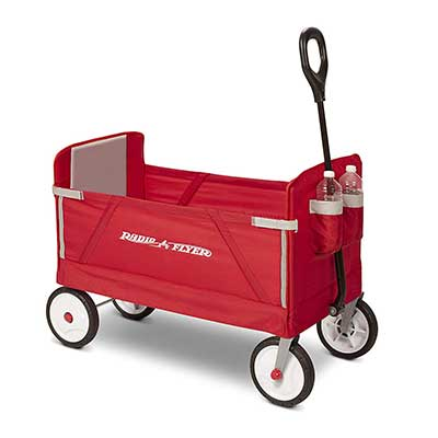 Radio Flyer 3-in-1 EZ Folding Wagon for Kids cargo