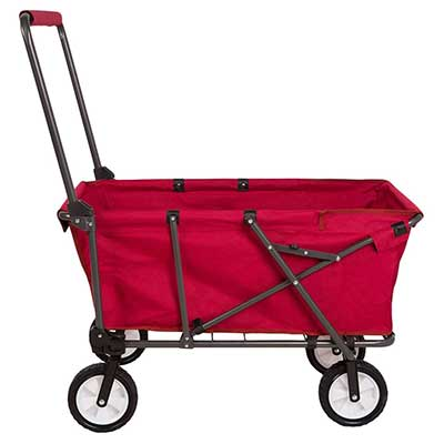 REDCAMP Collapsible Wagon Cart, 1200D/600D Canvas Folding Utility