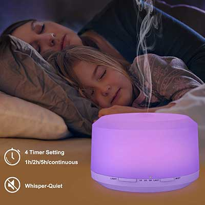 Essential Oil Diffuser with 8 LED Color Changing lamps