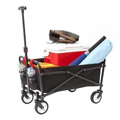 YSC Wagon Garden Folding Utility Shopping Cart