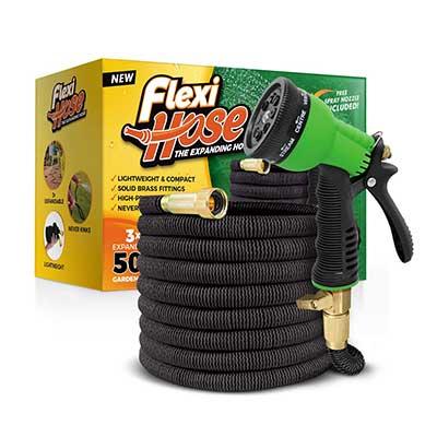 Flexihose Upgraded Expandable 50 FT Garden Hose, Extra Strength