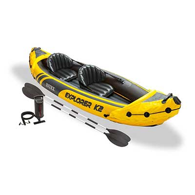Intex Explorer K2 Yellow 2 Person Inflatable Kayak