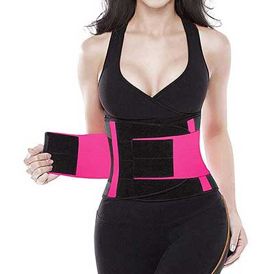 SHAPERX Camellias Waist Trainer Belt Body Shaper