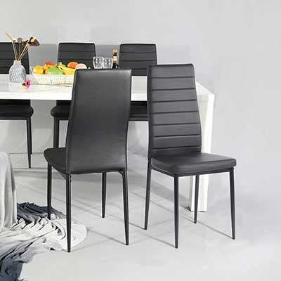 Aingoo Kitchen Chairs Set of 4 Dining Chair Black
