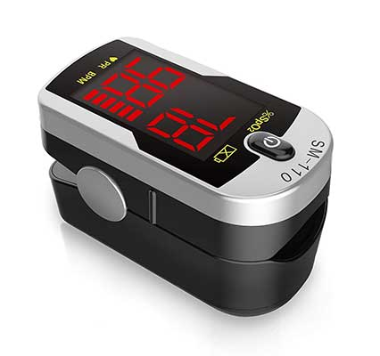Deluxe SM-110 Two Way Display Finger Pulse Oximeter