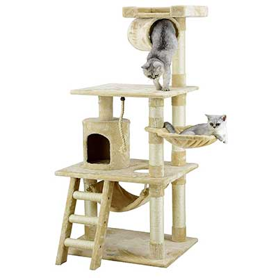 Go Pet Club Cat Tree Furniture 62-Inch High